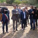 L'ONOREVOLE ROSI BINDI IN VISITA AL GIARDINO DELLA MEMORIA DI PALERMO